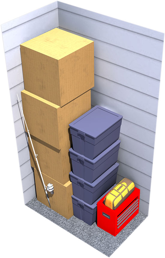3x5 moving storage space